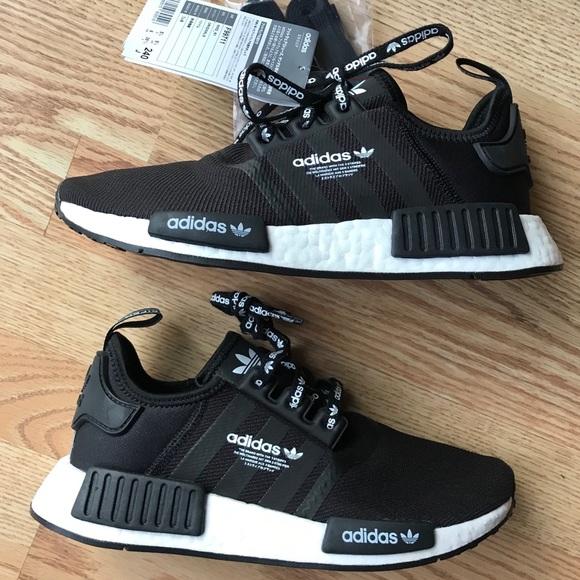 223766c62 Adidas NMD R1 Logo Shoes